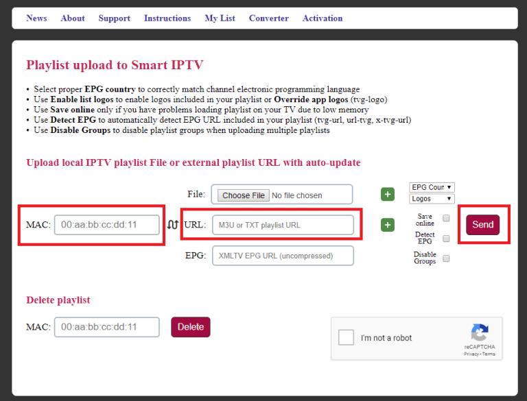 IPTV sur Samsung Smart TV